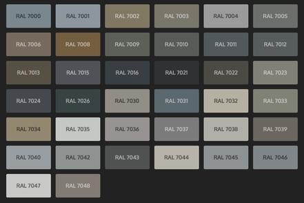 GRUPO PAVIN - Suelos y pavimentos industriales   Carta de colores RAL Classic - Tonos grises