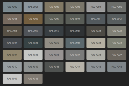 GRUPO PAVIN - Suelos y pavimentos industriales | Carta de colores RAL Classic - Tonos grises