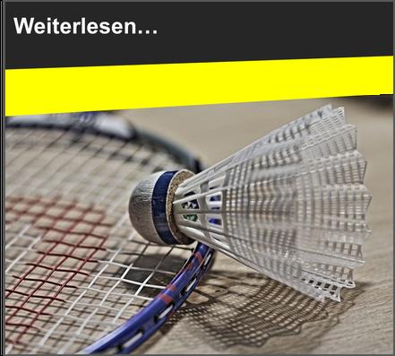 VfL Altenhagen Federball und Badmintonschläger