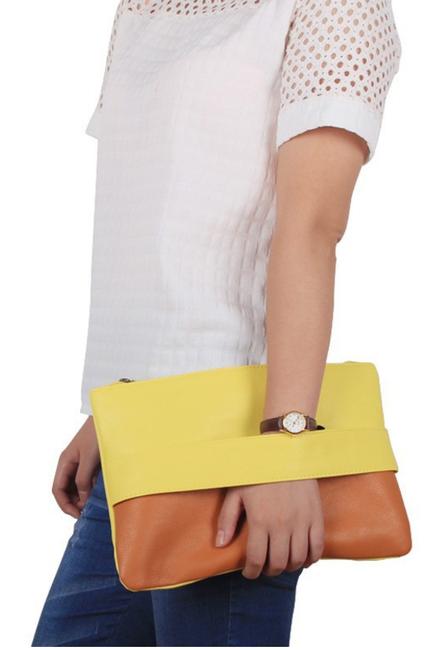 pochette en cuir coloré, sac en cuir femme, pochette été