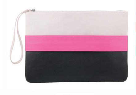 pochette cuir coloré, sac à main femme cuir, blanc, noir, rose