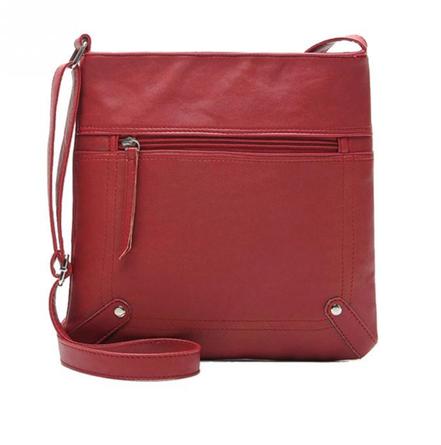 sac pochette cuir rouge, sac à main femme à bandoulière