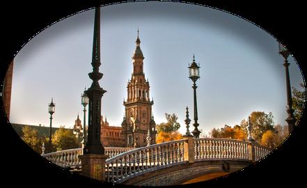 tour-seville.com: Sevilla patrimonio del UNESCO, Plaza D'España, Expo 92, Iberoamericana.