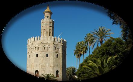 tour-seville.com: Sevilla a medida, Torre de Oro, Plaza D'España, Guadalquivir.