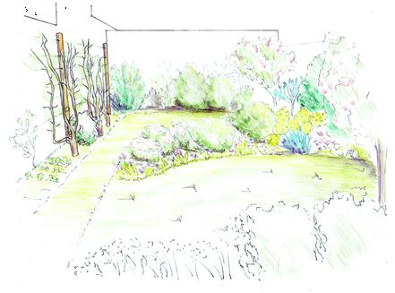 Croquis d'ambiance du jardin