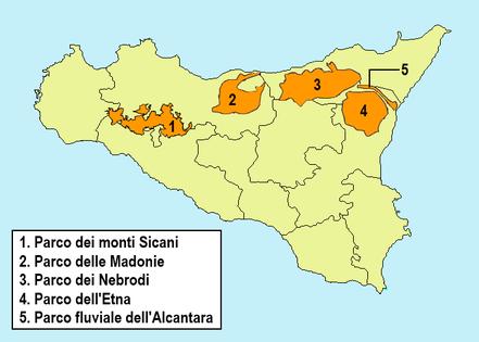 Regionale Naturparks in Sizilien © Esculapio