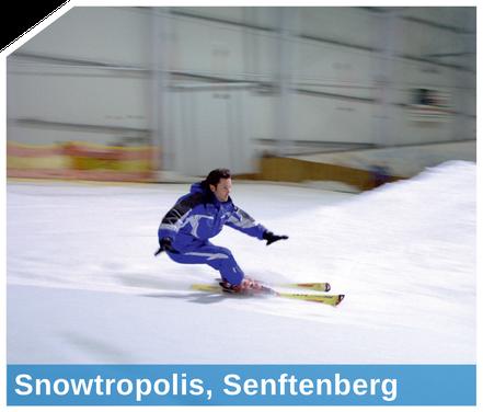 Schneeproduktion in Skihallen