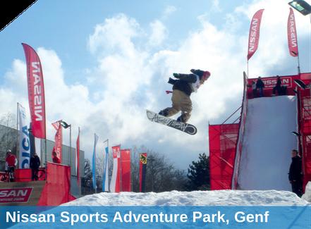 Nissan Sports Adventure Park, Genf, Beschneiung