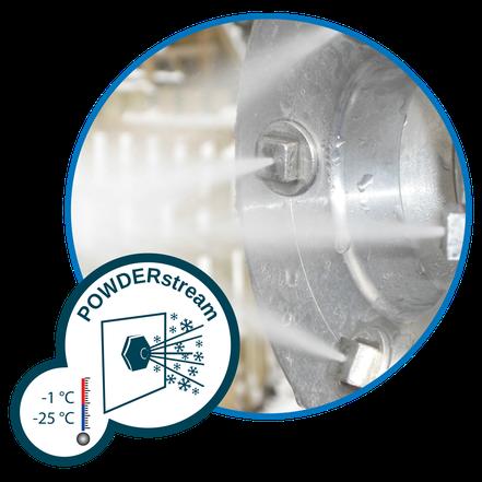 POWDERstream für Umgebungen von -1 bis -25 °C