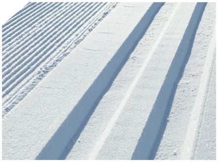 Wir legen Loipen an, wie sie im Buche stehen: überragende Schneekonsistenz mit idealen Spurführungseigenschaften