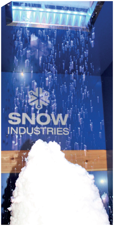 SnowFALL (SF) technology is the simplest way to cool down by real natural snow up to an ambient temperature of +40°C. The snow falls down from the ceiling or from the wall, hits the body and remains on the floor where it melts due to ambient temperatures.