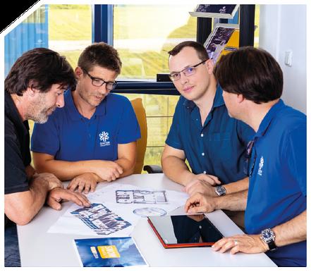 Jedes Projekt wird individuell von unseren Technikern geplant und an die örtlichen Gegebenheiten angepasst. Nach Auftragseingang erstellen unsere Techniker eine individuelle Konstruktionsplanung und Dokumentation.