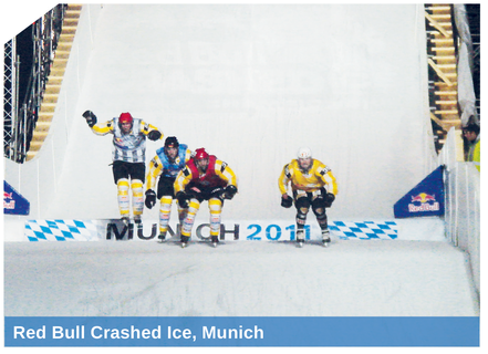 Red Bull Crashed Ice, Munich, snowed by SnowBOX