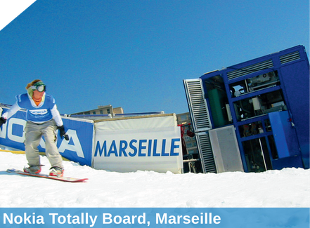 Nokia Totally Board, Marseille, Beschneiung