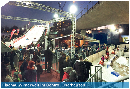 Example for winter world: Flachau Winterwelt im Centro, Oberhausen