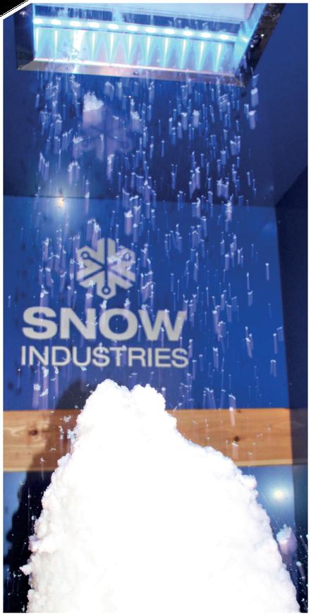Die Schneedusche SnowFALL im Einsatz
