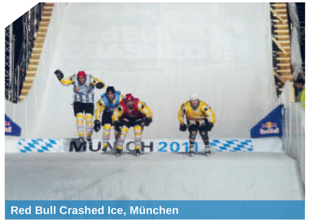 Red Bull Crashed Ice, München - realisiert mit der SnowBOX