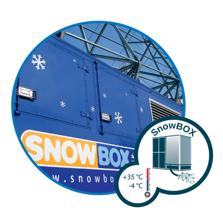 Snow for temperatures below 0 °C with SnowBOX