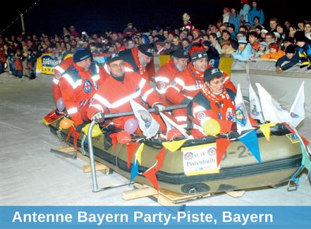 Antenne Bayern Party-Piste, Bayern, Beschneiung