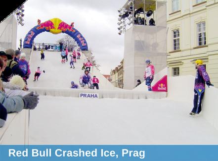 Red Bull Crashed Ice, Prag, Beschneiung