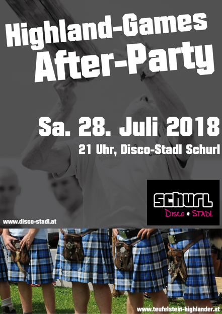 Plakat Highland-Games After-Party 2018