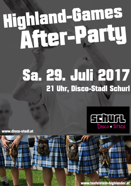 Plakat Highland Games After Party