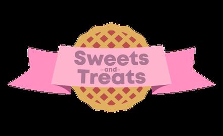 Het nieuwe logo van sweets and treats, logo, ontwerp, grafisch, pastel, design