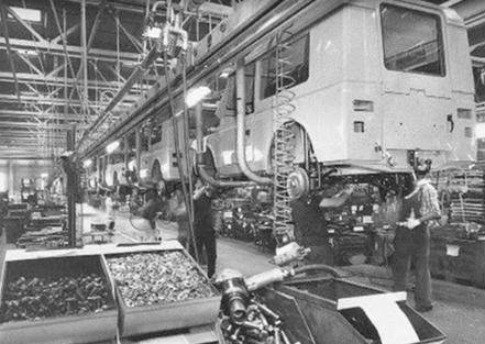 Catena di montaggio della Fiat negli anni '70