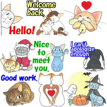 linesticker cat cats kitty cute