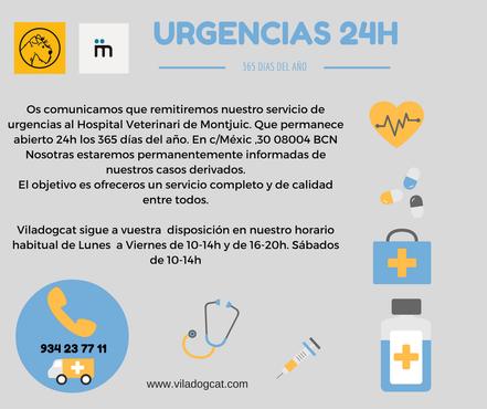 Aqui os mostarmos nuestro servicio de urgencia de 24 horas, que será remitidas al Hpital de montjuic