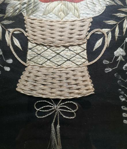 Japanese Export Silkwork 1890's