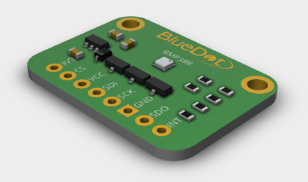 3D Model from BlueDot BMP388 Board V1.