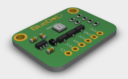 3D Model from BlueDot BME680 Board available as STEP file.