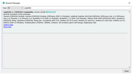 Arduino IDE: Installing ESP8266 Board