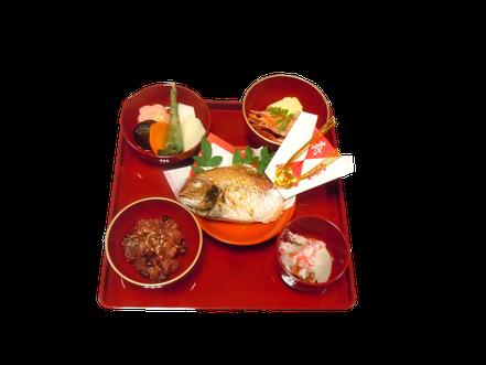 ミニ鯛お子様用お祝い膳:3,000円~(税別)<税込3,240円~>