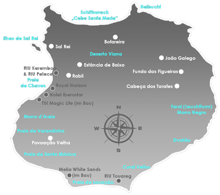 Boa Vista, Urlaub, Sonne, Meer, No Stress, Kapverden, Schiffswrack Cabo Santa Maria, Bofareira, Route 66, Santa Monica, Varandinha, Morro de Areia, Sandboarding, Perola de Chaves