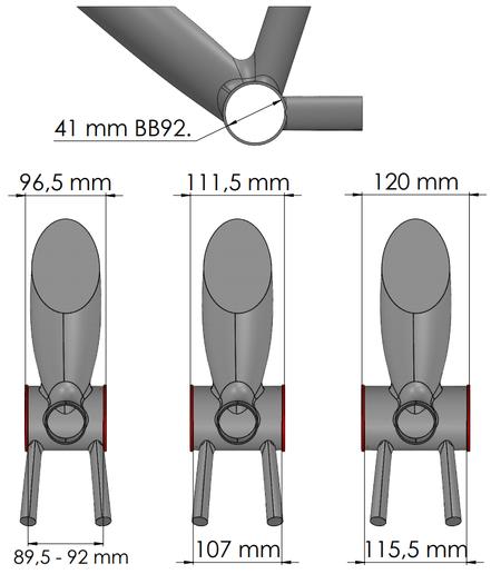 BB92 press fit 41mm bottom bracket