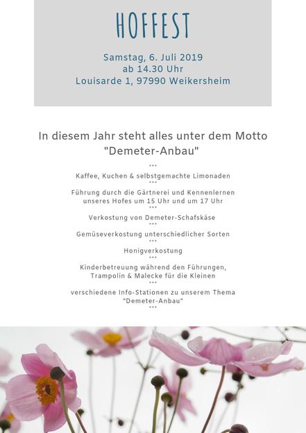 Einladung Kundentreffen/ Hoffest