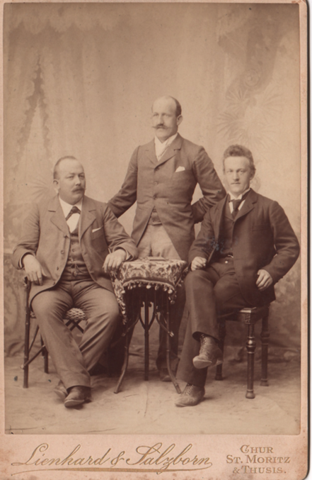 ils trais frars Bardola: Cristoffel, Dumenic e Jon (da schnestra a dretta,  fotografia s.d.)