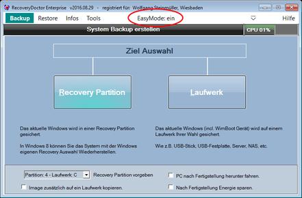 Backup im EasyMode