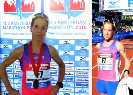 Ruth van der Meijden Nederlands kampioene op de marathon