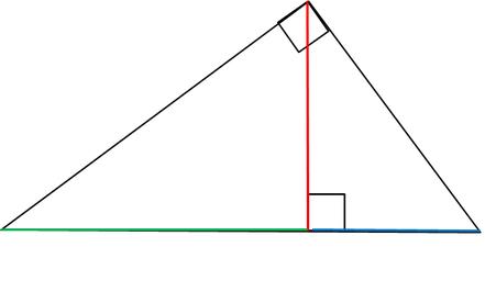 высота прямоугольный треугольник проекции катетов