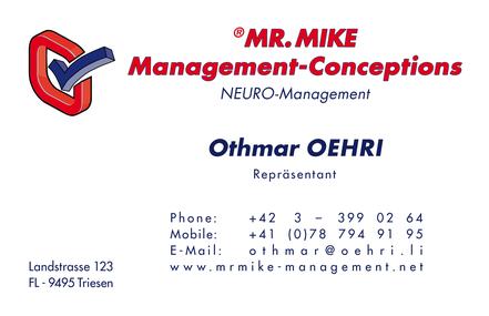 Neuromanagement,Neurowissenschaft,Kontakt,MR.MIKE Management,