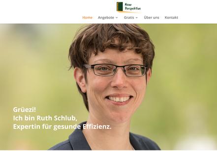 Ruth Schlub / Expertin für gesunde Effizienz / Neue Perspektive