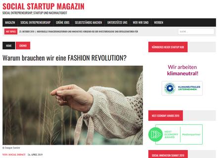 Social Entrepreneurship in der Modeindustrie; Fashion Revolution in Berlin und Erfurt; Diese fünf Modelabels zeigen, dass es auch anders geht und wie eine nachhaltige und faire Moderfurter Designer; Yvette en vogue by Contemporary Fashion; Holz&Hygge Jena