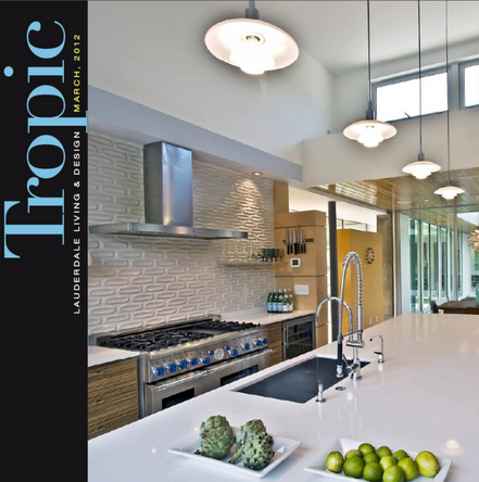 Mia Home Trends Strada 315 modern design project featured in Tropic Magazine