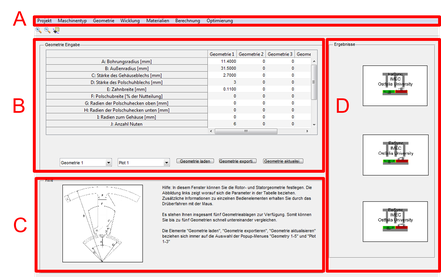 Eingabemaske der Software EaSync für geometrische Details