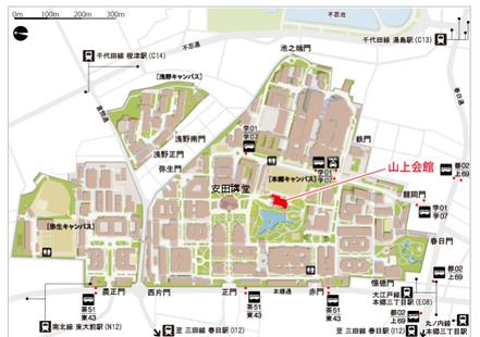スクール会場の地図