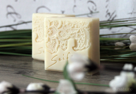 B.nature I Handmade Soap with Almond Oil and Sheabutter
