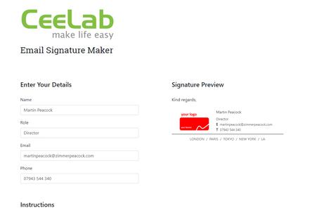 email signature generator ceelab